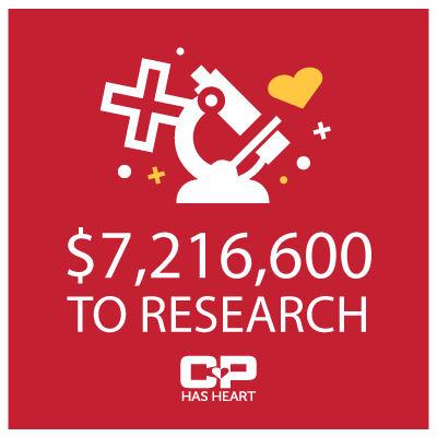 CP Has Heart has donates $5,827,000 to Heart Research