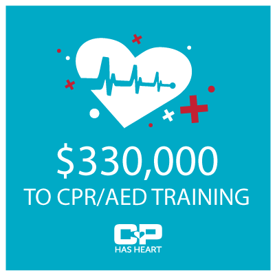 CP Has Heart donates $330,000 for CPR/AED training