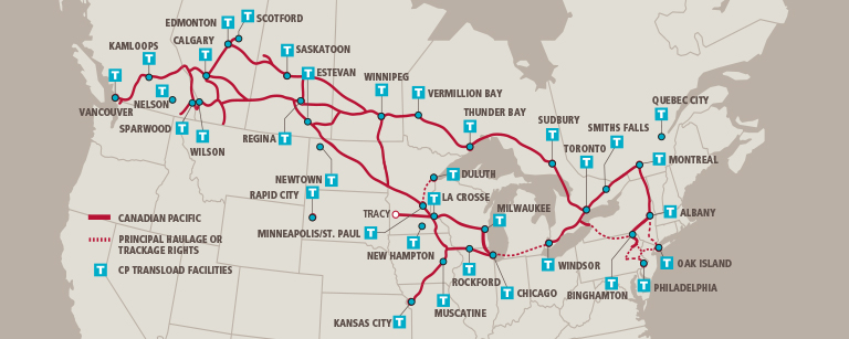 Infographics Maps Music And More Interactive USCanadian - Map of us railways