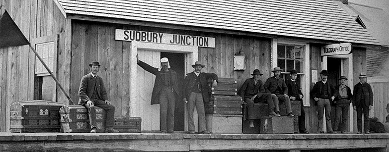 Canadian Pacific station and telegraph office at Sudbury