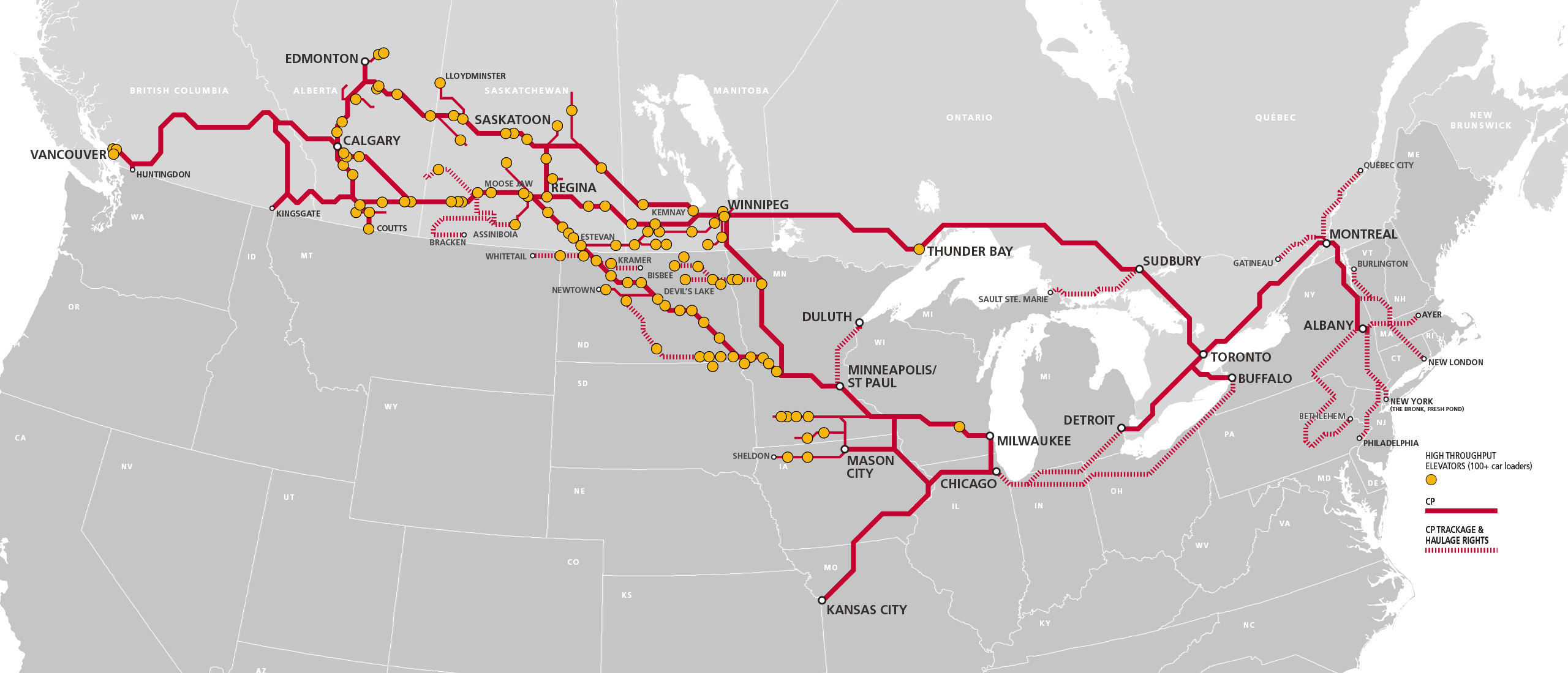 Canadian Pacific Railway Track Map Canada Grain