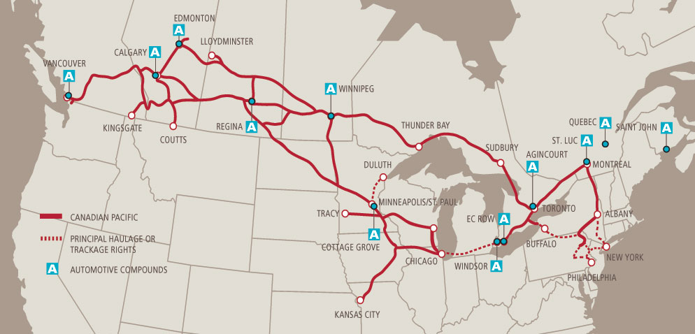 Map Of Canada Via Rail.Automotive