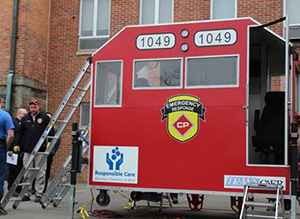 CP built this one-of-a-kind specialized training prop to bring mobile locomotive rescue training to fire departments.